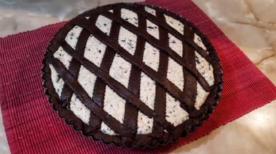 Csokoládés-tehéntúrós pite