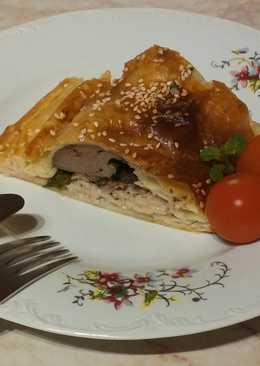 Tésztabundában sült rakott csirkemell #medvehagyma