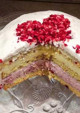 Reform tőzegáfonyás eper-vaníliamousse torta