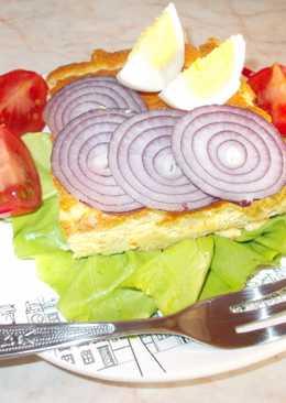Burgonyás omlett sütőben sütve