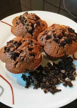 Oreos - kakaós, meggyes muffin