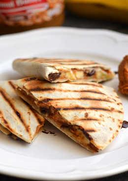 Mogyoróvajas-banános tortilla