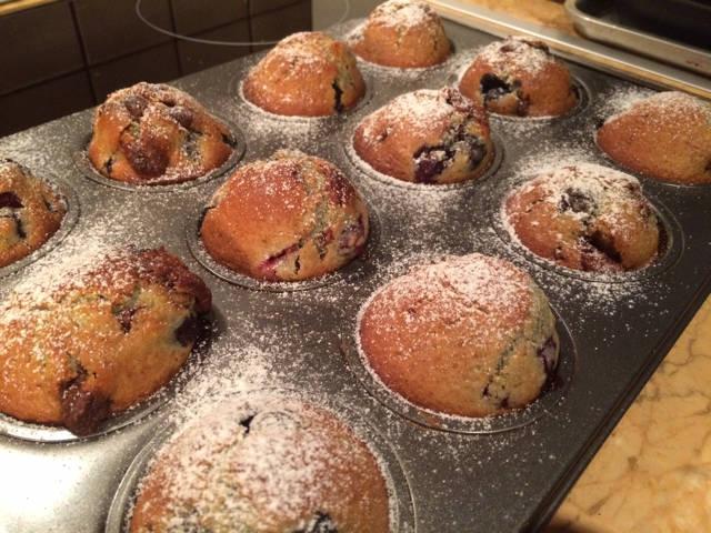 Csokis-meggyes muffin recept főfotó