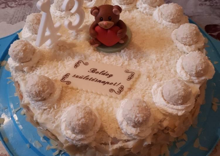 Vajdáné Szilvi féle mandulás kókuszos torta