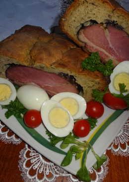 Zabpehelylisztes húsvéti töltött kenyér