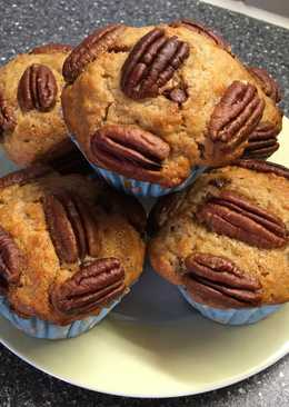 Pekándiós, banános muffin