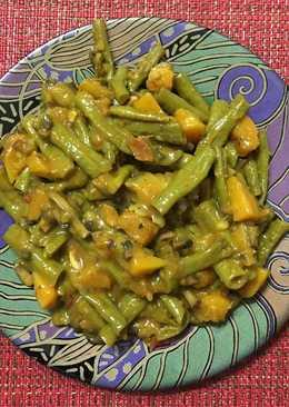 Currysölesbab sütőtökkel