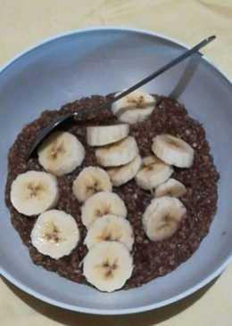 Csokis, banános zabkása