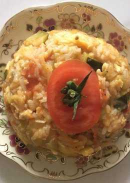 Cukkinis, rizses lecsó