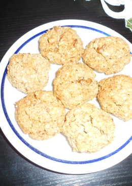 Diós-kókuszos zabpehely keksz