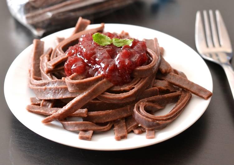 Kakaós tészta recept málnadzsemmel