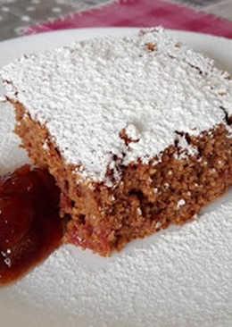 Kakaós-meggyes kevert süti (gluténmentes)