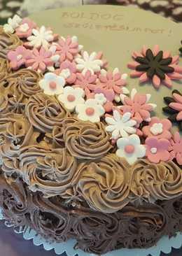 Mascarponés - főzött csokis szülinapi torta
