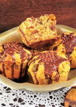 NoCarb aszalt gyümölcsös, csokis vaníliás muffin