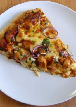 BBQ csirkés pizza (vastag tésztás)