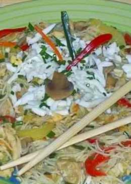 Kínai húsos-zöldségestészta, ahogy én készítem
