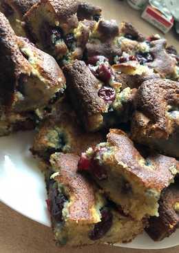 Diétás kókuszos-meggyes süti