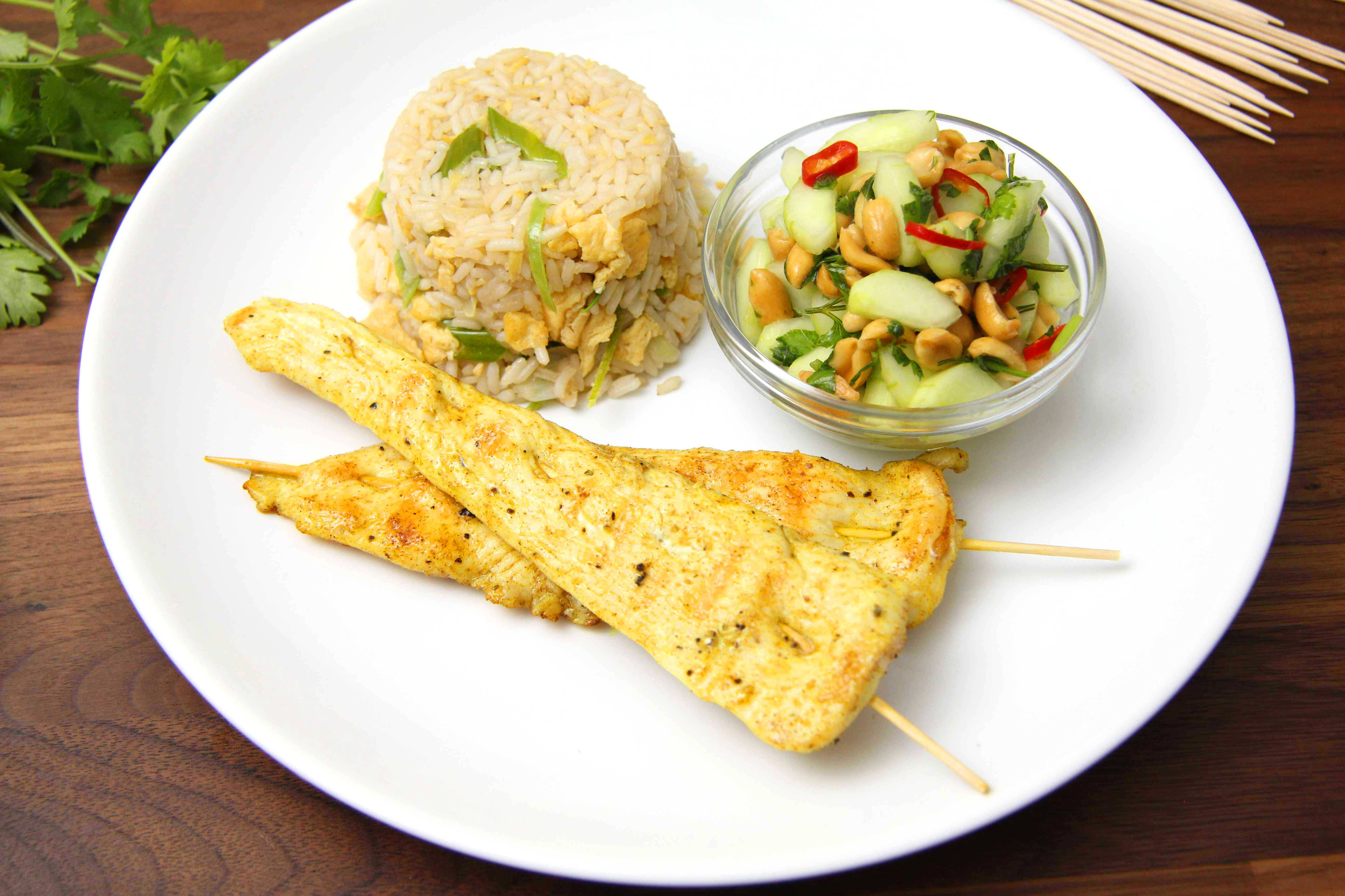 Fűszeres csirkenyárs (csirke satay) recept főfotó