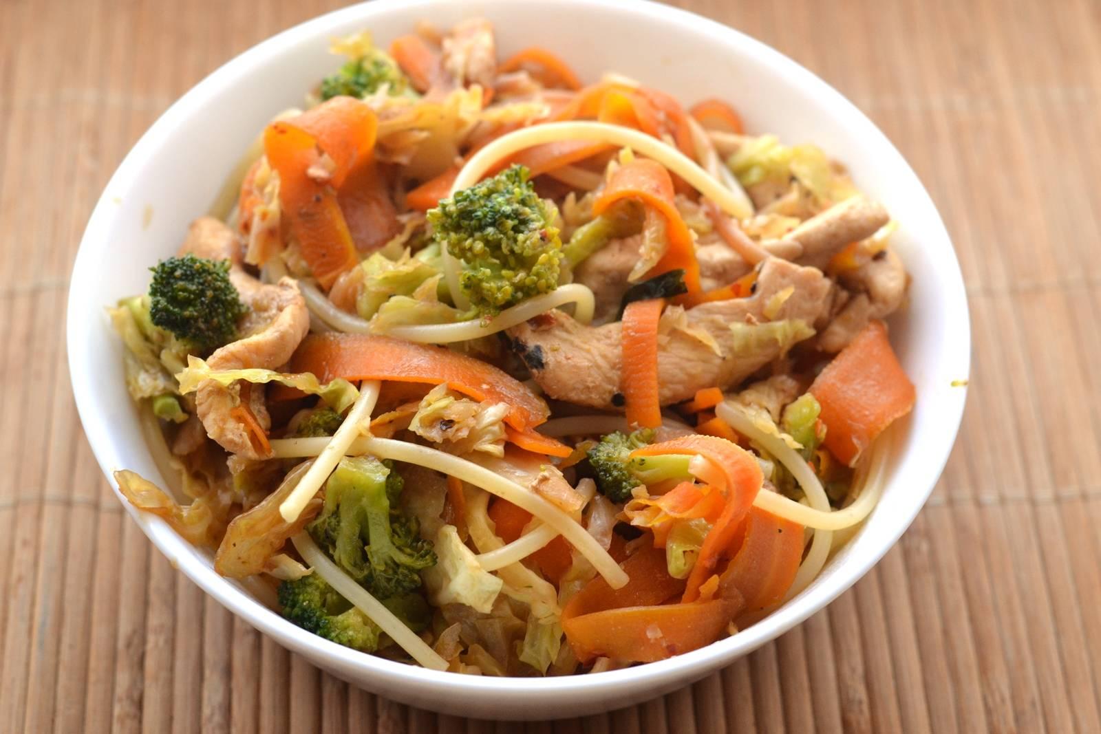 Zöldséges csirkés spagetti recept főfotó