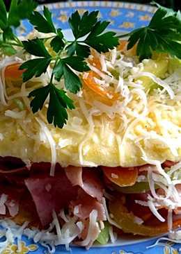 Sajtos omlett sonkás raguval