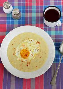 Joghurtos sárgaborsó főzelék
