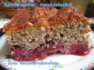 Szilvás cobbler mandulaliszttel (Gluténmentes)