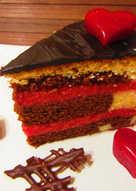 Meggyes-márványos torta