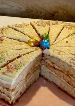 Mézes-vaníliás torta