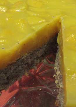 Mákos-barackos köles torta