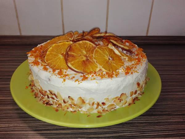 Sült narancsos diótorta