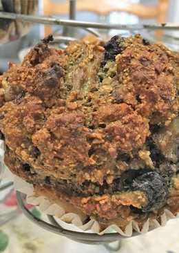 Ananászos kék áfonyás muffin