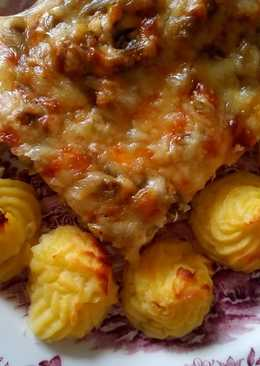 Zöldbabos-túrós-sajtos csirke