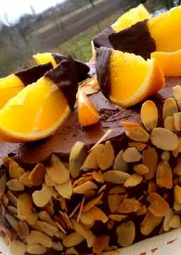Narancsos trüffeltorta