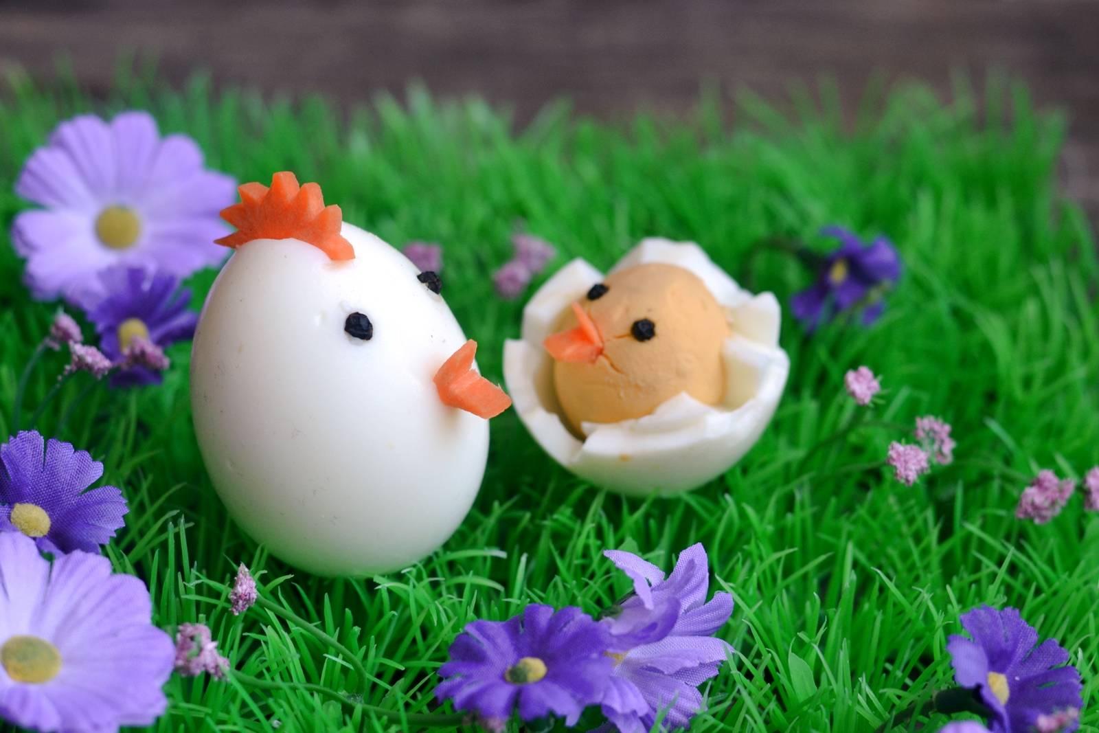Húsvéti tyúk, és csibéje tojásból főfotó