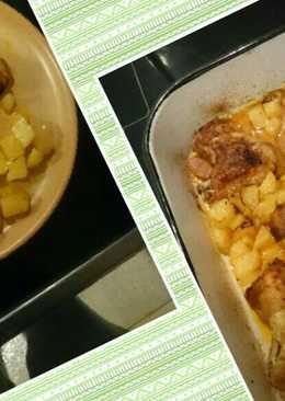 Sütőzacskóban sült csirkeszárny, krumplival