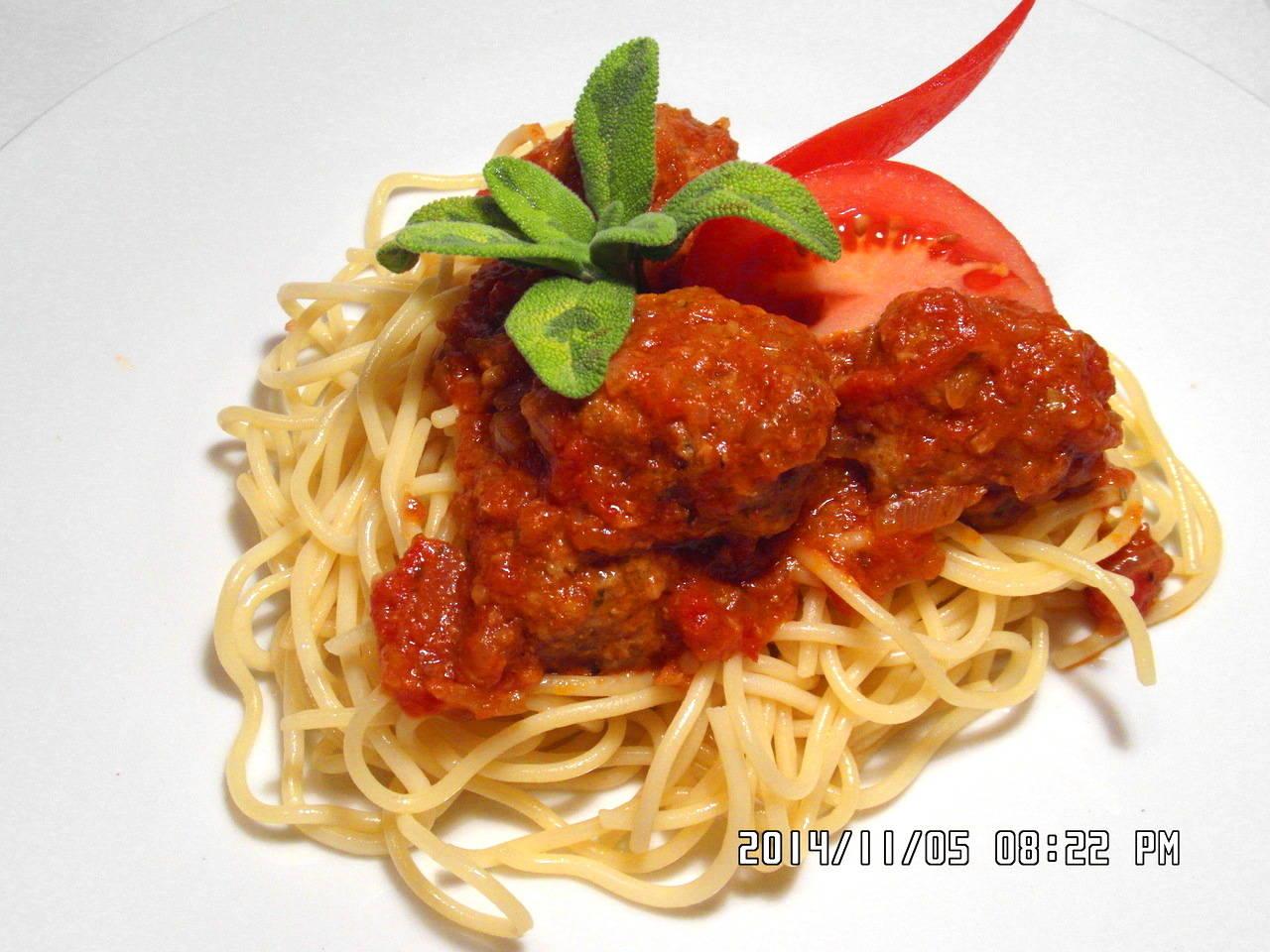 Szicíliai paradicsomos húsgombóc spagettivel főfotó