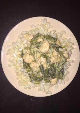 Zöldbabpaprikás, csirkehússal dúsítva