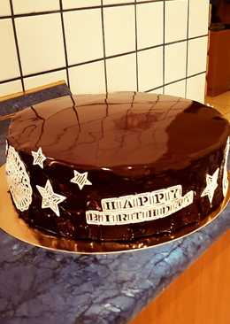 Tükörmázas csoki torta