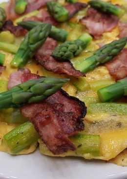 Tavaszi spárgás omlett
