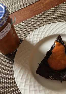 Étcsokis cukkini torta,cukormentes vaníliás baracklekvárral