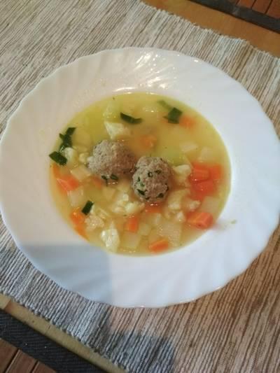 Currys zöldségleves medvehagymás húsgombóccal #medvehagyma
