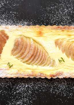 Körtés-mascarponés pite