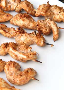 Grillezett Tandoori csirke saslik recept