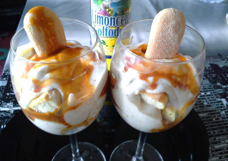 Limoncellos-karamelles pohárkrém