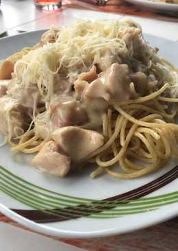 Csirkemelles spagetti carbonara