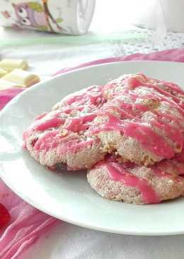 Fehércsokis epres keksz