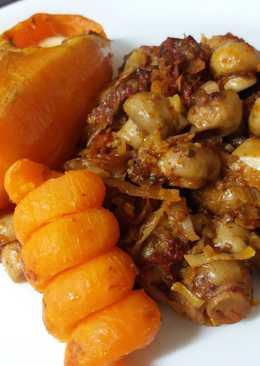 Sütőben sült gombapaprikás /édes/burgonyával