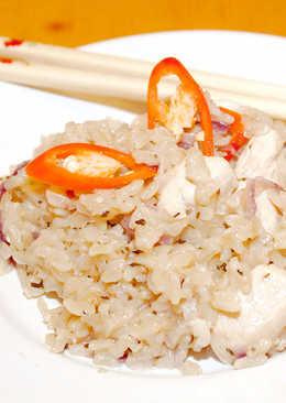 Csípős thai rizs recept csirkével