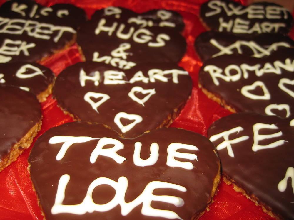 Valentinnapi ropogós zabpehely keksz recept főfotó