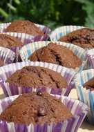 Csokis, cukkinis muffin
